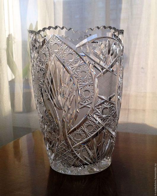 Винтажные предметы интерьера. Ярмарка Мастеров - ручная работа. Купить Цена снижена. Хрустальная ваза для цветов. Богемия. Handmade.