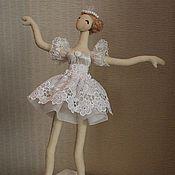 Куклы и игрушки ручной работы. Ярмарка Мастеров - ручная работа Куколка балерина (тряпиенс). Handmade.