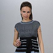 Одежда ручной работы. Ярмарка Мастеров - ручная работа Туника вязаная с поясом. Handmade.