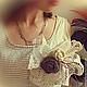 """Броши ручной работы. Заказать Брошь вязаная  """"Hope"""". Вязаные Истории HandMade (KnittingStories). Ярмарка Мастеров. Брошь-цветок"""