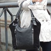 Сумки и аксессуары handmade. Livemaster - original item Women`s shoulder bag black leather