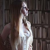 Одежда ручной работы. Ярмарка Мастеров - ручная работа Исторический корсет из льна 1890 год. Handmade.
