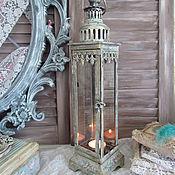"""Для дома и интерьера ручной работы. Ярмарка Мастеров - ручная работа Свечной фонарь """" Я буду ждать тебя.."""". Handmade."""