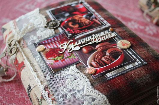 """Кулинарные книги ручной работы. Ярмарка Мастеров - ручная работа. Купить Кулинарная книга """"Мои любимые рецепты"""". Handmade. Бордовый"""