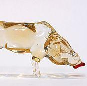 Для дома и интерьера ручной работы. Ярмарка Мастеров - ручная работа Декоративная фигурка из цветного стекла свинья Ефросинья из Жодино. Handmade.