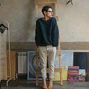 Одежда ручной работы. Ярмарка Мастеров - ручная работа Джемпер Изумрудная альпака. Handmade.