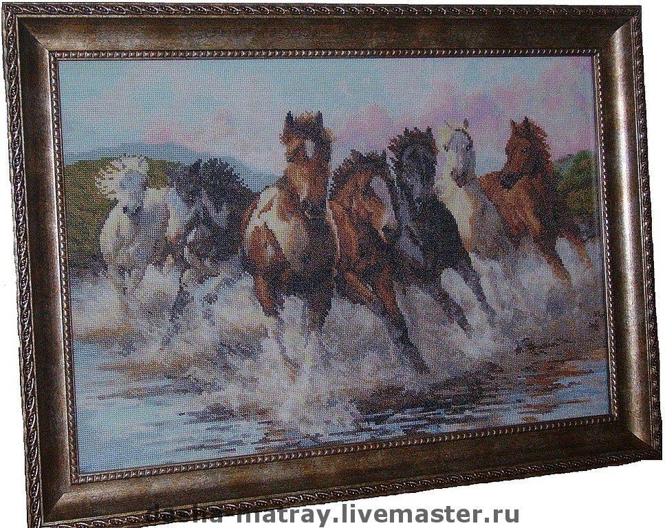 Алмазная вышивка лошадь готовая работа 28