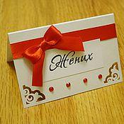 Свадебный салон ручной работы. Ярмарка Мастеров - ручная работа Рассадочная карточка Резная. Handmade.