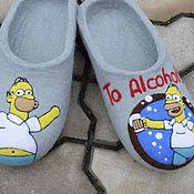 """Обувь ручной работы. Ярмарка Мастеров - ручная работа Валяные тапочки """"To Alcohol"""". Handmade."""