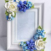Цветы и флористика ручной работы. Ярмарка Мастеров - ручная работа Рамка для фото с цветами. Handmade.