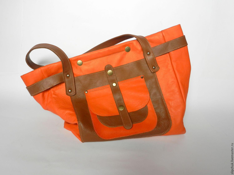 9f6d55004d08 Женские сумки ручной работы. Ярмарка Мастеров - ручная работа. Купить  Кожаная сумка «Мандариновый ...