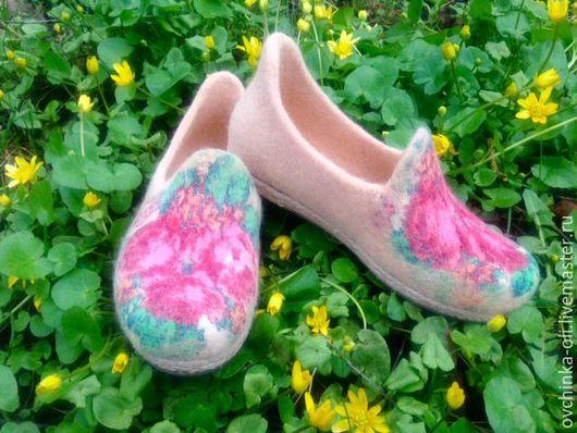 Обувь ручной работы. Ярмарка Мастеров - ручная работа. Купить Мокасины валяные. Handmade. Кремовый, обувь ручной работы