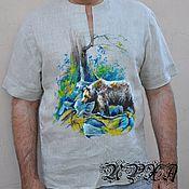 "Одежда ручной работы. Ярмарка Мастеров - ручная работа Льняная рубаха ""Медведь"". Handmade."