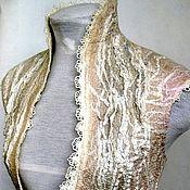 Одежда ручной работы. Ярмарка Мастеров - ручная работа Метель с карамелью валяный жилет. Handmade.