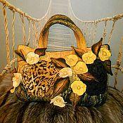 """Сумки и аксессуары ручной работы. Ярмарка Мастеров - ручная работа Сумка """"Леопард в цветах"""". Handmade."""
