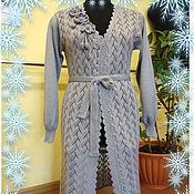 Одежда ручной работы. Ярмарка Мастеров - ручная работа Кардиган серый. Handmade.