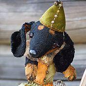 Куклы и игрушки ручной работы. Ярмарка Мастеров - ручная работа Таксик Пепин и мышка-малышка Жюли. Handmade.