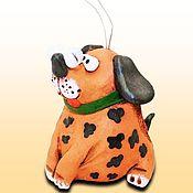 Сувениры и подарки handmade. Livemaster - original item Dog ceramic bell. dog out of clay. Handmade.