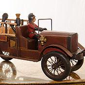 Винтаж ручной работы. Ярмарка Мастеров - ручная работа Автомобиль ретро Automobile de pompiers антиквариат пожарный расчёт в. Handmade.