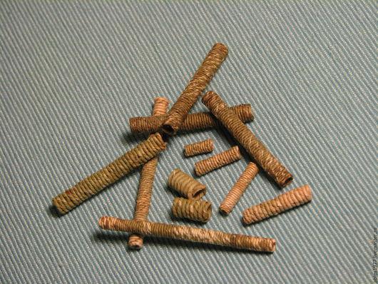 Спиральные бусины из рогоза для создания украшений в этностиле, талисманов, оберегов, предметов интерьера.