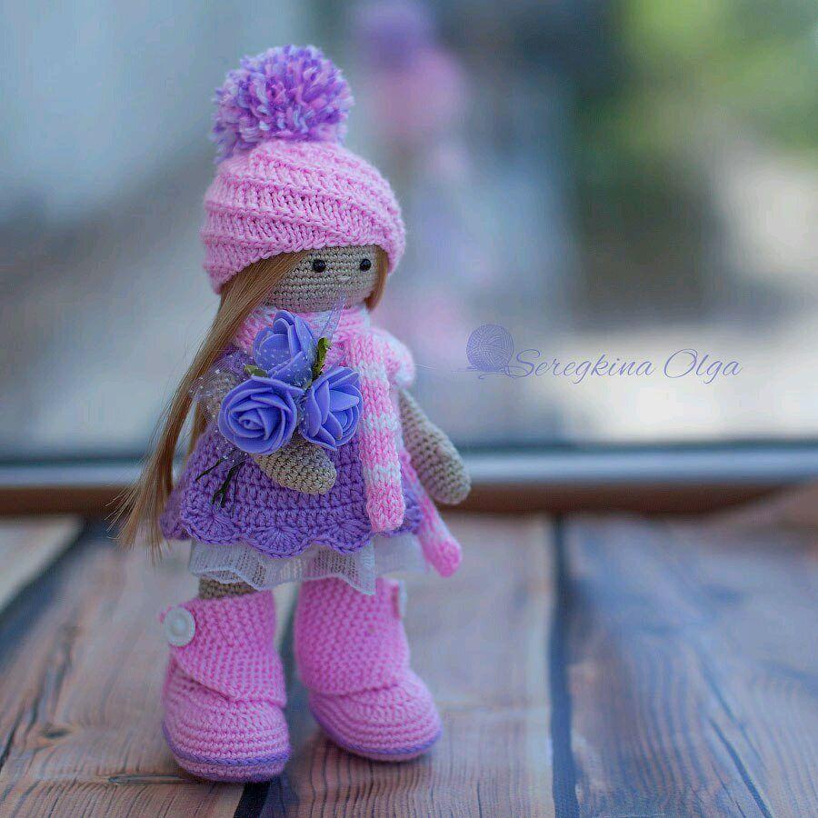 Связать куклу большеножку