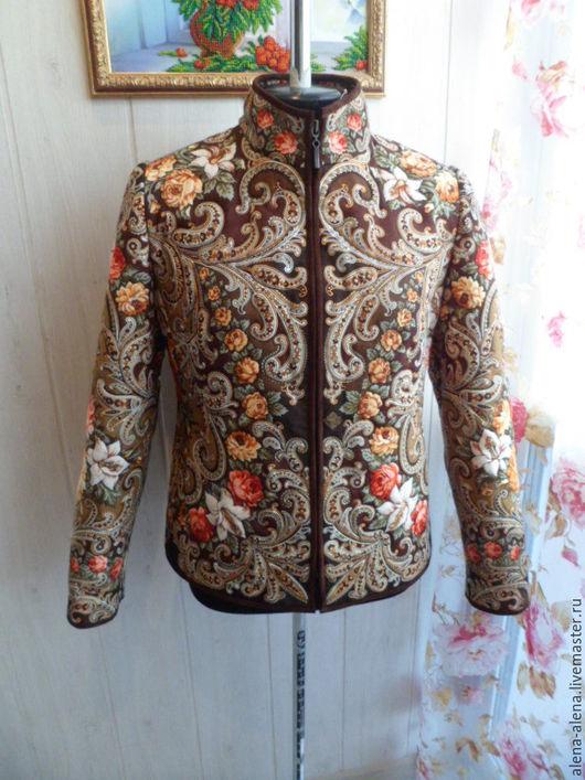 """Верхняя одежда ручной работы. Ярмарка Мастеров - ручная работа. Купить Куртка демисезонная """"Карие глаза"""".. Handmade. Коричневый"""