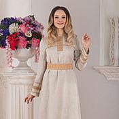 handmade. Livemaster - original item Dress linen Origins. Handmade.