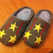 """Обувь ручной работы. Ярмарка Мастеров - ручная работа Тапочки """"Настоящий полковник/подполковник"""". Handmade."""