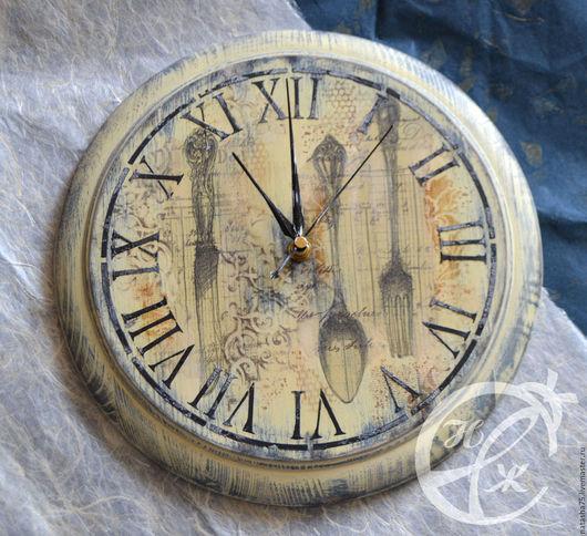 """Часы для дома ручной работы. Ярмарка Мастеров - ручная работа. Купить Часы """"Столовый этикет"""". Handmade. Необычный подарок, винтаж"""