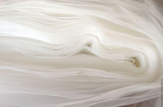 Шитье ручной работы. Ярмарка Мастеров - ручная работа. Купить фатин молочный матовый средней жесткости. Handmade. Фатин молочный