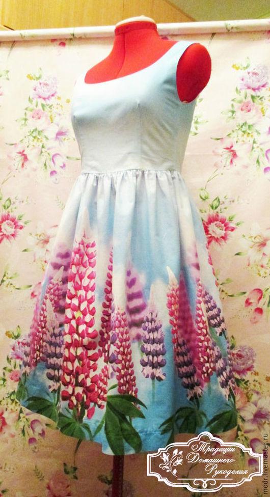 Платья ручной работы. Ярмарка Мастеров - ручная работа. Купить хлопковое платье - сарафан Северное лето. Handmade. Бохо стиль
