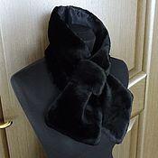 """Винтаж ручной работы. Ярмарка Мастеров - ручная работа Р... Черный шарф-воротник из искусственного меха """"Бант"""", Германия. Handmade."""