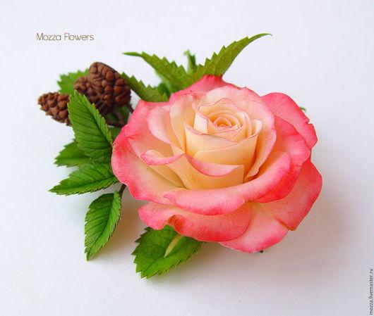 """Заколки ручной работы. Ярмарка Мастеров - ручная работа. Купить Заколка/брошь """"Сердце мое"""" с уральской розой, крапивой и ольхой.. Handmade."""