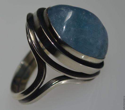 Кольца ручной работы. Ярмарка Мастеров - ручная работа. Купить кольцо с аквамарином. Handmade. Голубой, дизайнерское кольцо