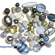 Материалы для творчества handmade. Livemaster - original item 20 g Beads Czech Mix 19 0090 Grey glass beads. Handmade.
