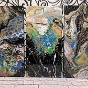 Элементы интерьера ручной работы. Ярмарка Мастеров - ручная работа Картины-триптих,абстракция.. Handmade.