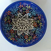 """Для дома и интерьера ручной работы. Ярмарка Мастеров - ручная работа Декоративное блюдо, вазочка, пиала """"Цветы Востока""""- Турция, керамика. Handmade."""