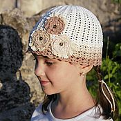 Работы для детей, handmade. Livemaster - original item Boho beanie for girls the