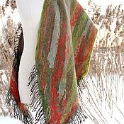 Аксессуары handmade. Livemaster - original item Felted Scarf Autumn Colors Warm Stole. Handmade.