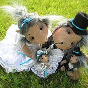 Куклы и игрушки ручной работы. Ярмарка Мастеров - ручная работа Свадебные ёжики. Handmade.