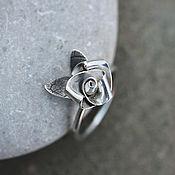 """Украшения ручной работы. Ярмарка Мастеров - ручная работа Кольцо из серебра """"Моя белая роза"""". Handmade."""