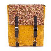 Сумки и аксессуары manualidades. Livemaster - hecho a mano Eco mochila de roble Portugués naranja hecho a mano. Handmade.