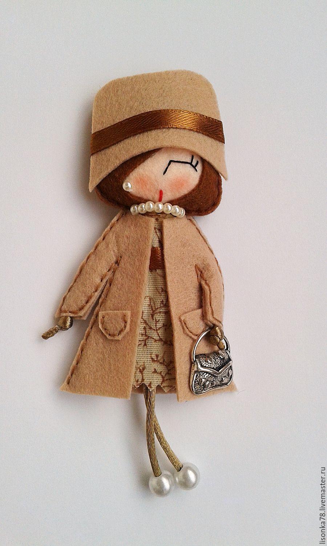 Игра в куколки шьём мягкие брошки из фетра Ярмарка 39