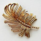 Винтаж handmade. Livemaster - original item Charm! Large FEATHER brooch from Monet. Handmade.
