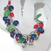 """Украшения ручной работы. Ярмарка Мастеров - ручная работа Браслет """"blueberry&cranberry"""". Handmade."""