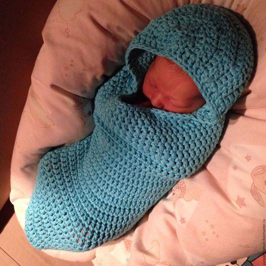 Для новорожденных, ручной работы. Ярмарка Мастеров - ручная работа. Купить Кокон для новорожденного. Handmade. Однотонный, вязание на заказ