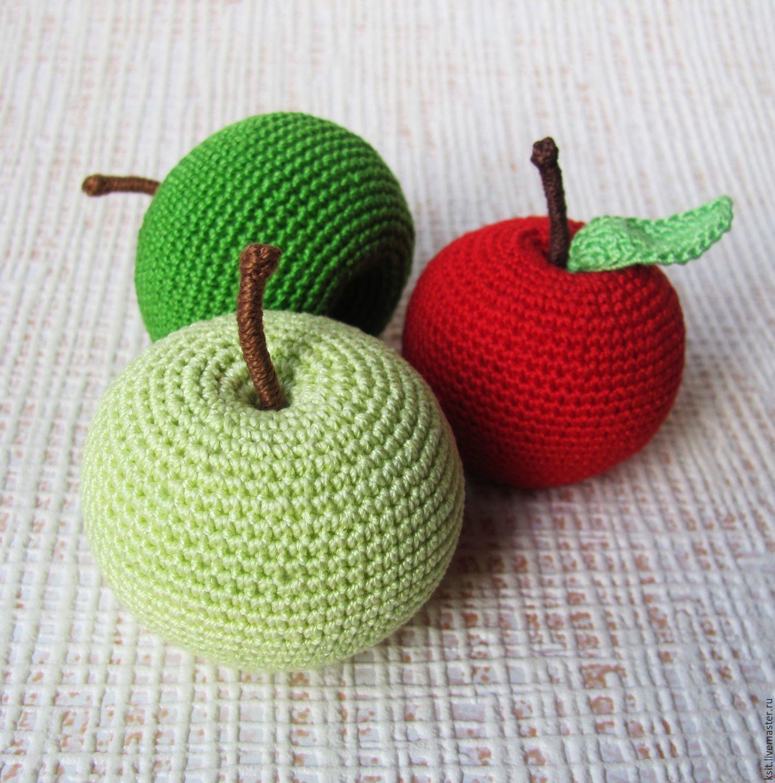 Как связать яблоко для начинающих