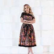 Одежда handmade. Livemaster - original item Dressy black dress, dress of shawl. Handmade.