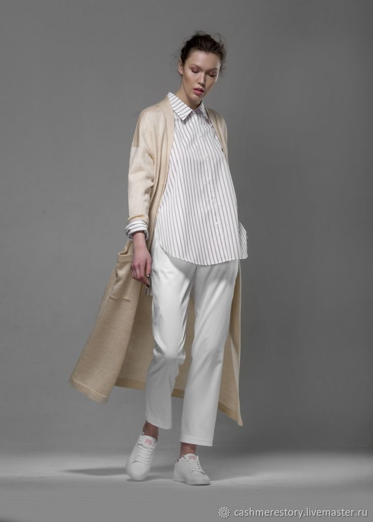 Knitted cardigan Pastel beige, Cardigans, Moscow,  Фото №1