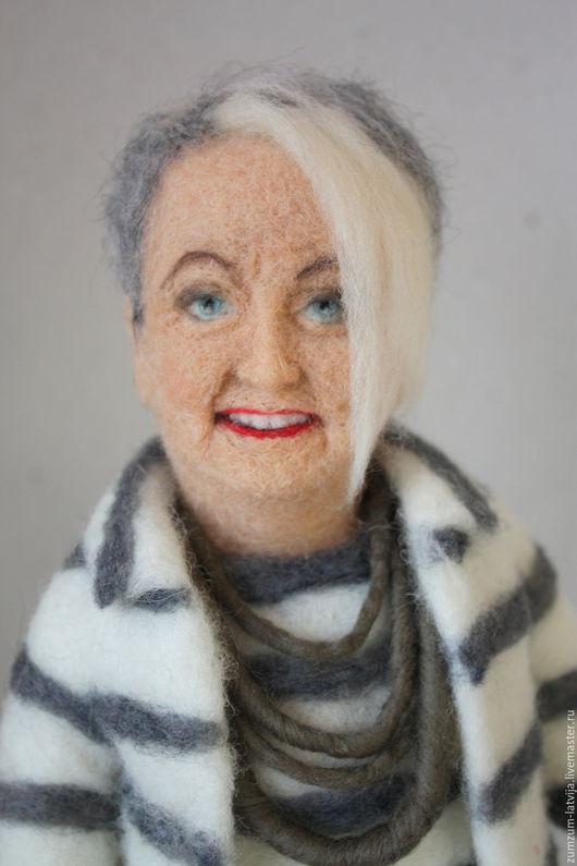 Портретные куклы ручной работы. Ярмарка Мастеров - ручная работа. Купить Портретная кукла Экстравагантная леди. Handmade. Серый, туманный
